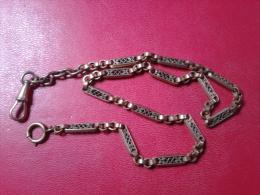 ANCIENNE CHAÎNE  POUR MONTRE A GOUSSET - Necklaces/Chains