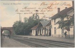 21141g GARE - QUAI - RAIL - Boitsfort - 1904 - Colorisée - Watermaal-Bosvoorde - Watermael-Boitsfort
