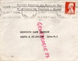 MONACO - STE DES BAINS DE MER ET DU CERCLE DES ETRANGERS A MONACO- 1948 - Factures & Documents Commerciaux