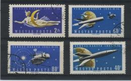 HONGRIE: VENERA 1 N° Yvert 1433/1436 Obl. - Space