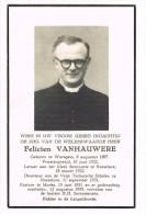 WAREGEM - ROESELARE - MARKE - Doodsprentje  Van PASTOOR Felicien VANHAUWERE + 1959 - Historical Documents