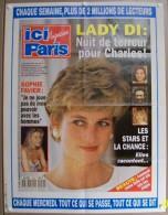 COLLECTIONNEZ LES AFFICHES PRESSE PUBLICITE ICI PARIS 57X75cm SOPHIE FAVIER LADY DI CHARLES DRUCKER 22 JUIN 1993 N° 2502 - Affiches