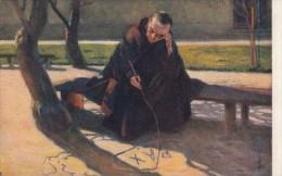 CPA PAINTINGS, STACHIEWICZ- MONK MEDITATING - Peintures & Tableaux