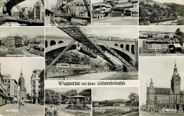 Allemagne - Rhénanie Du Nord Westphalie - Chemins De Fer - Trains - Monorail - Wuppertal Mit Reiner Schwebebahn - Wuppertal