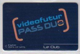 """VIDEO FUTUR - Carte Abonnement """" PASS DUO """" - Le  Club -Tr�s Rare et T.B.E"""