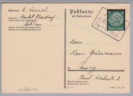 Heimat DE Bahnpost Bay Lechbruck-Kaufbeuren 1935-05-08 Zu#65 - Deutschland