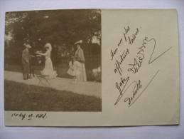 Cpa  Carte Photo  1903  VITTEL  Parc Aux Anes - Vittel Contrexeville
