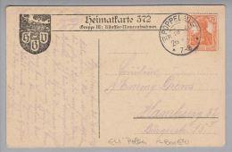Heimat Polen Poppelau (Kr.Oppeln) 1918-09-26 KOS-Stempel Auf Heimatkarte 372 - ....-1919 Provisional Government