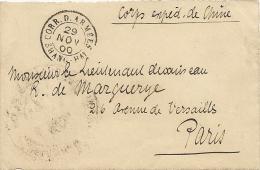 Corps Expeditionnaire De Chine, Cachet Coord´armées Shang-hai Du 29 Novembre 1900, Sur Devant De Lettre, Trés Belle Frap - Lettres & Documents