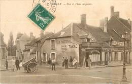 10 ROMILLY SUR SEINE - RUE ET PLACE MAGENTA ( BAR NATIONAL - TABAC - CAFE RESTAURANT ) - Romilly-sur-Seine