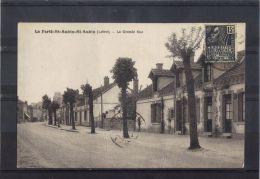 4519. LA FERTE SAINT AUBIN. LA GRANDE RUE  . RECTO/VERSO . - La Ferte Saint Aubin