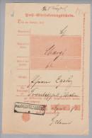 Heimat Polen Poln.Wartenberg 1871-04-12 (Sycöw) Auf Postschein - ....-1919 Provisional Government