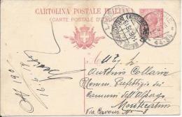 1918 Cartolina Postale C. 10 Da Lagrimone (Parma) Commissario Prefettizio Pro Profughi Guerra Annullo Tondo Frazionario - Entiers Postaux
