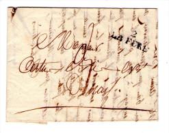 "LAC Commerciale De 1824 - Marque Lineaire "" 02 LA FERE "" - 3 Scan - 1801-1848: Precursores XIX"