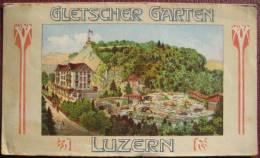 Schweiz Luzern - Werbefolder: Gletscher Garten Luzern / Labyrinth - Reklame