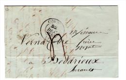 LAC Commerciale De 1845 De Cordes Pour Bedarieux - 3 Scan - Storia Postale