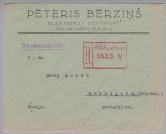 Lettland 1931-09-28 Riga R-Brief Nach Wennigsen DE - Lettonie