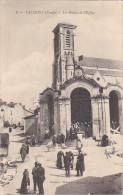 23314 TALMONT.Les Halles Et L´église -ed Diotteau -marché Vente Toiles