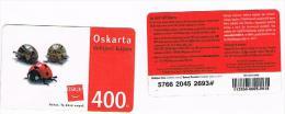 REPUBBLICA CECA (CZECH REPUBLIC) - OSKAR GSM RECHARGE  -  LADYBIRDS - USATA  -  RIF. 3228 - Coccinelle