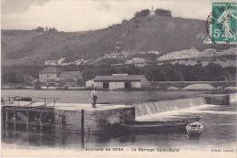 23320 Environs De Sens-Le Barrage Saint-Bond - Cliché Ismael Sens -barque Ecluse -Ernest Barbier (hangar)