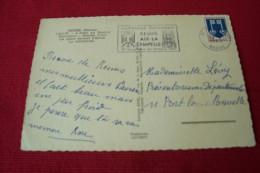 TIMBRE OBLITERATION FLAMME° 51 REIMS LE 19 09 1967  JUMELAGE EUROPEEN REIMS AIX LA CHAPELLE  30 07 1 10 1967 - Marcophilie (Lettres)