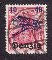 Danzig, Scott #C1, Used, Germania Surcharged, Issued 1920 - Danzig