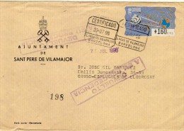 1502 Carta Certificada Sant Pere De Vilamajor Barcelona 1996 , No Reclamado, ATM - 1931-Today: 2nd Rep - ... Juan Carlos I
