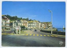 CP SAINT JEAN DE LUZ  CIBOURE  64  QUAI RAVEL  ENTREE DU PORT 1966 - Saint Jean De Luz