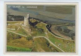 CP SAINT VAAST LA HOUGUE  MANCHE  50  FORT DE LA HOUGUE ET PARC A HUITRES 1994 - Saint Vaast La Hougue