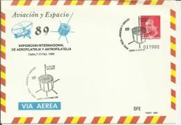 ENTERO POSTAL AUTOGIRO Y SATELITE INTASAT 1989 - Cartas