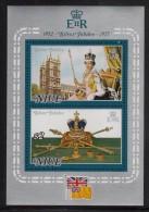 Niue MNH Scott #195a Souvenir Sheet Of 2 Queen Elizabeth II's Silver Jubilee - Niue