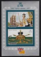Niue MH Scott #195a Souvenir Sheet Of 2 Queen Elizabeth II´s Silver Jubilee - Niue