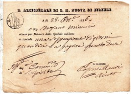 1836  R. ARCISPEDALE DI S. M. NUOVA DI FIRENZE - Italia