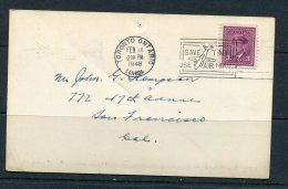 Canada 1948 Postal Card Toronto  To USA - Covers & Documents