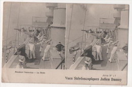 Vues Stéréoscopiques Julien Damoy - Pendant L'exercice - La Boxe - Marine Militaire - Stereoscope Cards