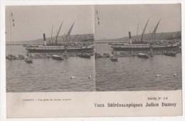Vues Stéréoscopiques Julien Damoy - GENEVE - Vue Prise Du Jardin Anglais - Stereoscopische Kaarten
