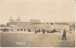 Seaside Oregon, Turn-around Hotel People Walk On Beach, C1910s/20s Vintage Real Photo Postcard - Andere