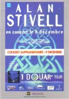 """Carte Postale édition """"Carte à Pub"""" - Alan Stivell En Concert à L'Olympia (chanteur - Musicien) - Publicité"""