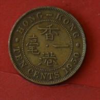 HONG KONG  10  CENTS  1950   KM# 25  -    (Nº05680) - Hong Kong