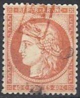 FRANCE -  40 C. Avec PD Encadré Rouge TTB - 1870 Siege Of Paris