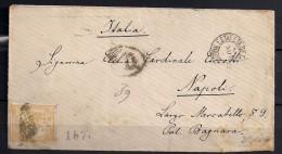 1874, ED. 149, 50 C. AMARILLO, SOBRE CIRCULADO A NÁPOLES - 1873 1. Republik