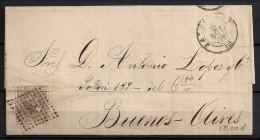 1879, ED. 205, 40 CTS. MAT. ROMBO, CARTA CIRCULADA DE BARCELONA A BUENOS AIRES - 1875-1882 Royaume: Alphonse XII