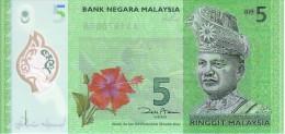 MALAISIE  5 Ringgit   Non Daté     Polymer      ***** BILLET  NEUF ***** - Malaysie