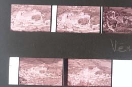 LOT Planche De 8 Photo Diapositives : Vézelay : Vue Aérienne / Diapo Diapositive - Lieux