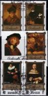 Gemälde Von Rembrandt Korea 2328/32 Plus 6-Block O 16€ Bilder Des Maler Im Museum-Rahmen Hoja Art Bloc Painting Bf Corea - Corée (...-1945)