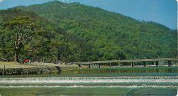 Togetsu-kyo Bridge Arashiyama Kyoto Japan Postcard Used Posted To England 1966 Gb Stamp - Kyoto