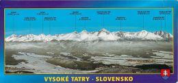 Vysoke Tatry Slovakia Postcard Used Posted To UK 2004 Stamp - Slovakia