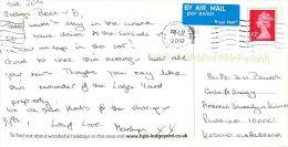 Lodge Yard, Askrigg, Yorkshire England Postcard Used Posted To Pristina, Kosovo Via Albania 2010 Stamp - England