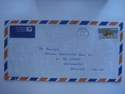 South West Africa 1986 Commercial Cover Luderitz To UK Nice Stamp 30c Lion - Publishers