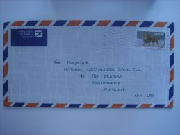 South West Africa 1986 Commercial Cover To UK Nice Stamp 30c Lion - Publishers